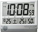 SEIKO CLOCK (セイコークロック) 掛け時計 置き時計 兼用 デジタル 電波時計 温度表示 湿度表示 大型 薄型 SQ419S