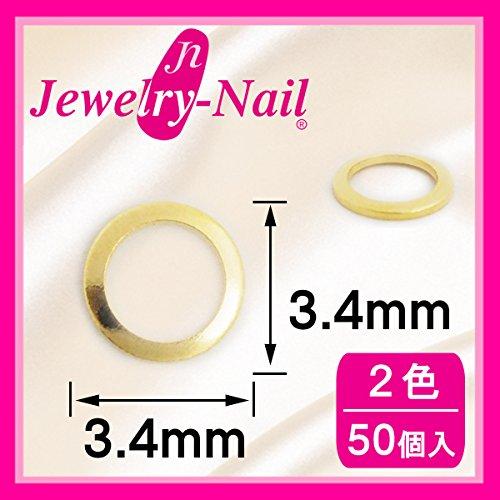 ネイルパーツ Nail Parts スタッズドーナツ 3.4mm(SSー7) 50入 ゴールド