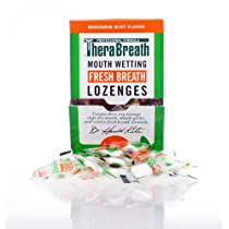 Dr. Harold Katz Therabreath Mouth Wetting Sugar Free Lozenges Mandarin Mint 100-Count