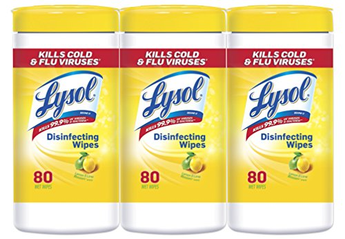 Lysol Disinfecting Wipes Value Pack, Lemon & Lime Blossom, 240 Wipes (3 Packs of 80 Wipes) Kitchen