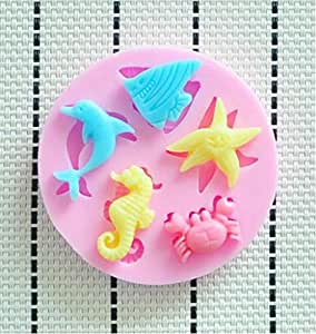 Amazon.com: NEW Marine Animals Silicone Mold, Fondant Cake