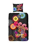 HIP Juego De Funda Nórdica Phantasy (Negro/Multicolor)