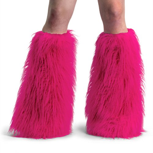 Women's Boot COVERS Sexy Faux Fur Boot SLEEVE Theatre Costumes Accessory Hot Pink