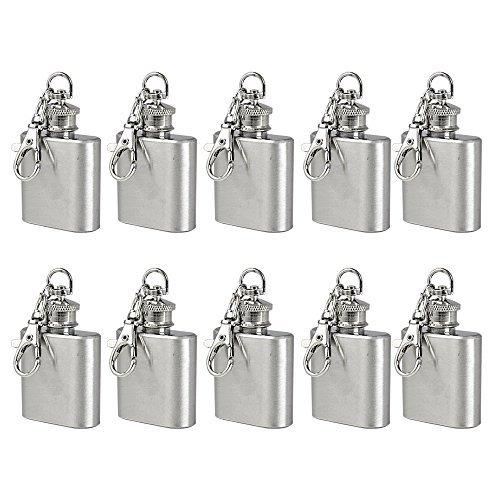 10X MENGS® 1 Unze Flachmann mit Schlüsselanhänger
