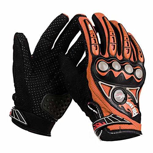 PRO-BIKER MCS23 Bike Motorcycle Outdoor Cycling Breathable Full-Finger Gloves (Orange, L)