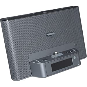 sony portable ipod iphone speaker dock clock radio with lightning connector for. Black Bedroom Furniture Sets. Home Design Ideas