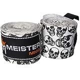 """180"""" Elastic Cotton MMA Handwraps (Pair) - Death Skulls"""