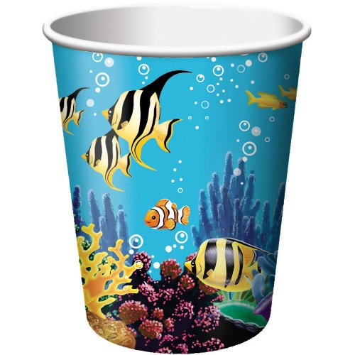 Creative Converting Ocean Party 8 Count Paper Cups, 9-Ounce