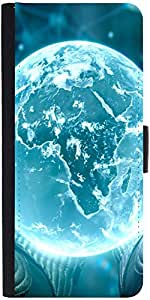 Snoogg Neon Earthdesigner Protective Flip Case Cover For Sony Xperia Z2