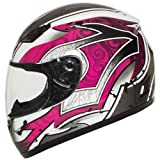BILT Women's Legacy Full-Face Motorcycle Helmet – MD, White/Pink