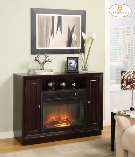 Cheap Aruba TV Stand with Electric Fireplace By Homelegance Furniture (8105-F102)