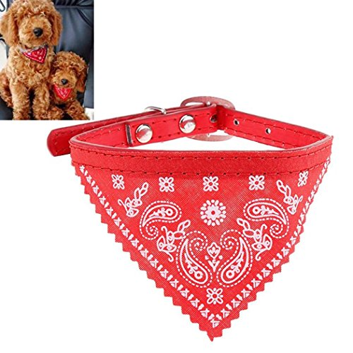 FINEJO Small Adjustable Puppy Pet Dog Cat Bandana Scarf Collar Neckerchief