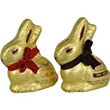 Duo of Lindt Gold Bunny Dark and Milk Chocolate Easter Rabbit