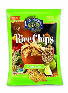 Lundberg Rice Chips Made with Organic Grains, Fiesta Lime, 1.5-Ounce (Pack of 48)