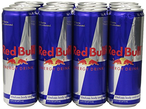 Red Bull Energy Drink, 16 Ounce Cans (Pack Of 12)