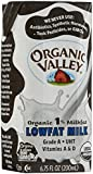Organic Valley 1% Aseptic Milk, Single Serve - White - 6.75 oz - 12 pk