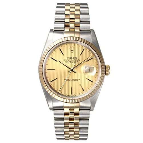 (ロレックス) ROLEX 腕時計 デイトジャスト 18KYGコンビ Ref.16233 シャンパン (タペストリー) バー X品番 メンズ [中古] [並行輸入品]
