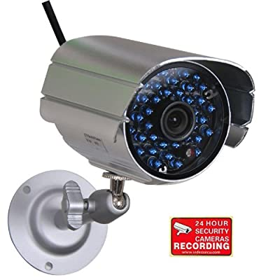 VideoSecu Security Camera Outdoor Weatherproof Day Night Vision 520TVL High Resolution Bullet Surveillance Camera with IR Cut Filter Switch 36 Infrared LEDs Bonus Bracket for CCTV DVR Home Surveillance System IR807B CC2