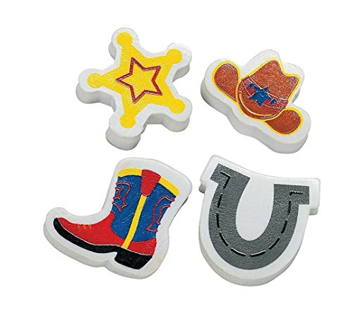 Fun Express Western Mini Erasers (3 Dozen)