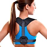 """Aroamas Posture Corrector for Women & Men, Relieves Upper Back & Shoulders Pain, Corrects Slouching, Hunching & Bad Posture, Clavicle Support Adjustable Brace, Chest 28""""-47"""""""