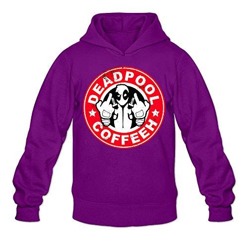 Fennessy Men's Hoodies Deadpool Coffee Size M Purple