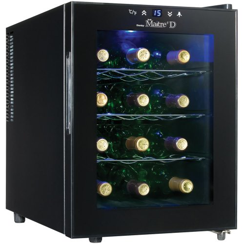 Danby DWC1233BL-SC 12 Bottle Wine Cooler - Black