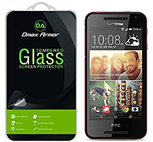 HTC Desire 612 Glass Screen Protector, Dmax Armor HTC Desire 612 Screen protector [Tempered Glass] Ballistics Glass, 99% Touch-screen Accurate, Anti-Scratch, Anti-Fingerprint, Bubble Free [0.3mm]- Retail Packaging