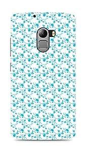 AMEZ designer printed 3d premium high quality back case cover for Lenovo K4 Note (blue floral roses)