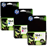 HP 564XL High Capacity Cartridges Combo-Pack (1 Cyan,1 Magenta, 1 Yellow)