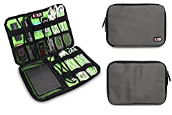 Travel Organizer Bag Universal /Grooming Travel Bag Electronics Accessories Case/usb Drive Shuttle Case Carry Healthcare Carry Case Grooming Kit Accessories Case /Nylon Fabric Zipper Closure Storage Case/bag/organizer for USB Flash Drives/thumb Drives/pen Drives/jump Drives & Hdd/power Bank/ipod/cell Phone w/ (Medium- Gray)