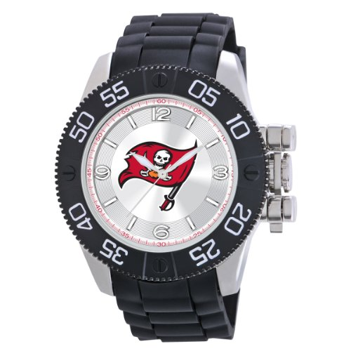 Game Time Men's NFL-BEA-TB Beast Tampa Bay Buccaneers Round Analog Watch at Amazon.com