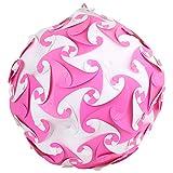 Ravi Creations Plastic Diwali Lamp - RC-29, Pink & White, 18 Cm X 18 Cm X 18 Cm