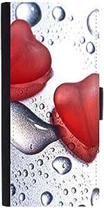 Snoogg Love Dropsdesigner Protective Flip Case Cover For Samsung Galaxy S3 Mini