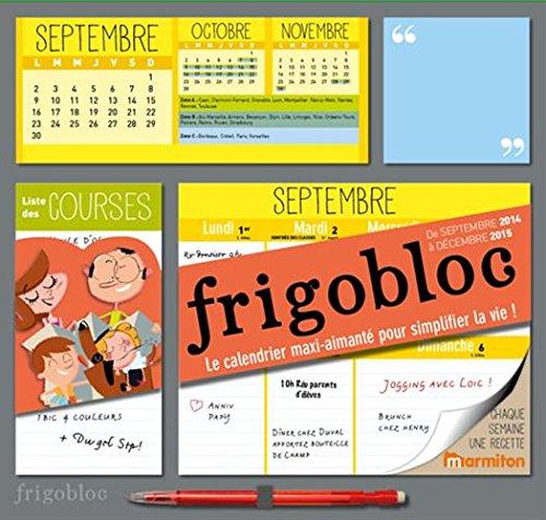 Calendrier d'organisation familiale FRIGOBLOC