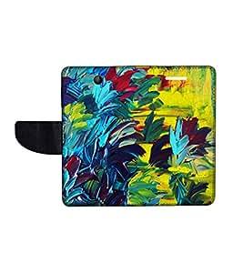 KolorEdge Printed Flip Cover For Microsoft Lumia 430 -Multicolor (43KeMLogo10479Lumia430)