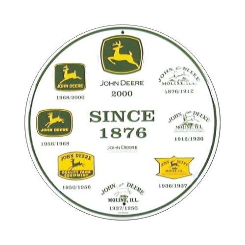 Amazon.com: John Deere Logo History Metal Circle Sign **