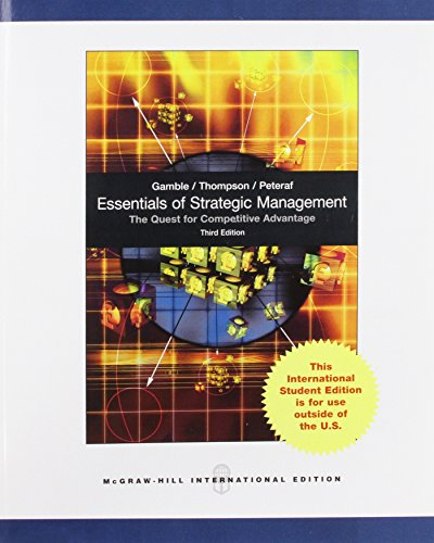 Essentials of Strategic Managment