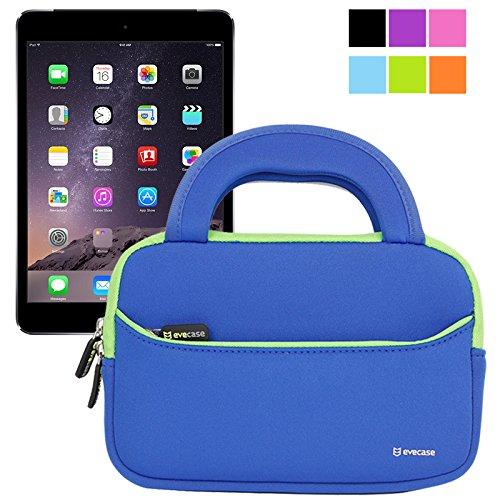 Evecase Ultraportable Handle Carrying Portfolio Neoprene Sleeve Case Bag For Apple Ipad Mini 3 / Ipad Mini 2 With Retina Display / Ipad Mini 1St - Blue