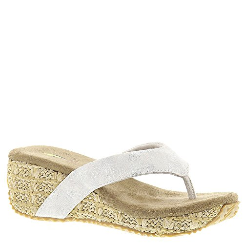 Volatile Everdean Girls' Toddler-Youth Sandal 13 M US Little Kid Silver-Shiny