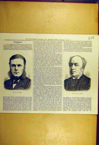 1879 Portrait Cusins Doran Sporting Dramaitc News Print