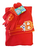 3pcs Blues Clues Winter Wear set - Blue's Clues gloves Scarf n hat -Red