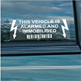5 x Car,Van,TruckVehicle Alarmed and Immobiliser Security Warning Alarm Stickers