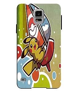 EU4IA Pikachu Pokemon Pattern MATTE FINISH 3D Back Cover Case For SAMSUNG GAL...