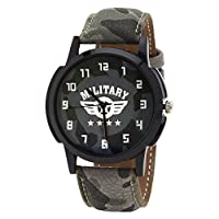 Relish Analog Round Casual Wear Black White Dial Watches for Men