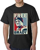 BeWild Brand® - Free Brady Deflategate New England Football Mens T-shirt