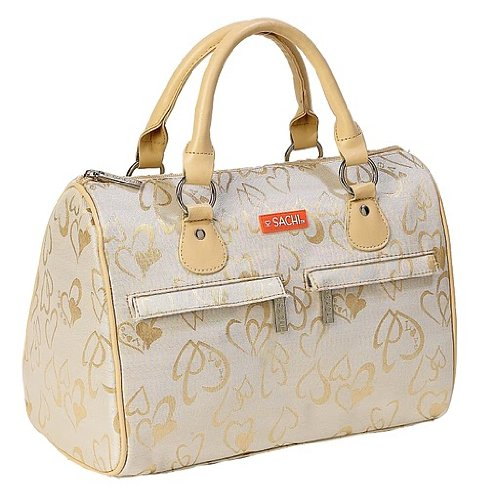 Hannon Cream Heart Speed Sachi Fashion Lunch Bag