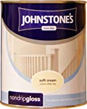 Johnstones No Ordinary Paint One Coat Non Drip Oil Based Gloss Soft Cream 750ml