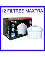 Cartouche Brita Maxtra compatible - filtre carafe filtrante (lot de 12)
