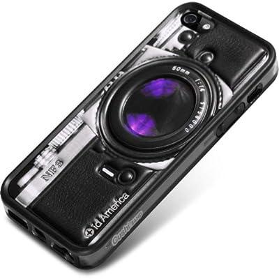 id America Cushi Plus Camera iPhone 5対応 【3Dクッションシール 側面バンパーセット】 Blk CSIAF509-Blk-A