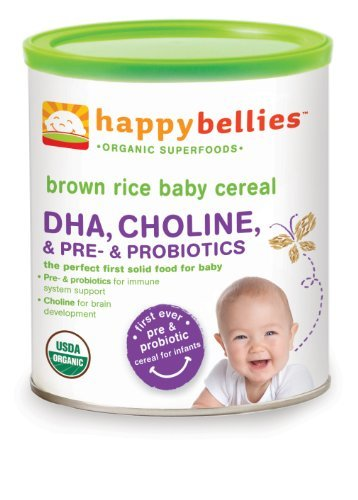 Happy Baby: Happybellies Brown Rice Baby Cereal, (7 oz each) (3 pack)